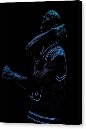 Michael Jordan Victory Canvas Print by Brian Reaves