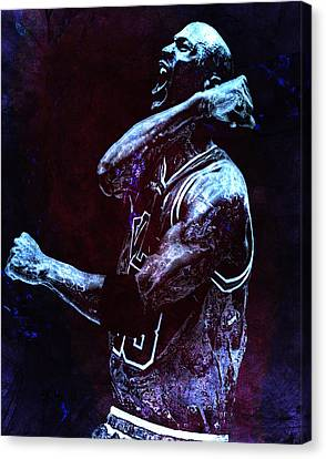 Michael Jordan We Did It Again Canvas Print by Brian Reaves