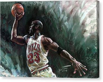 Michael Jordan Canvas Print by Ylli Haruni