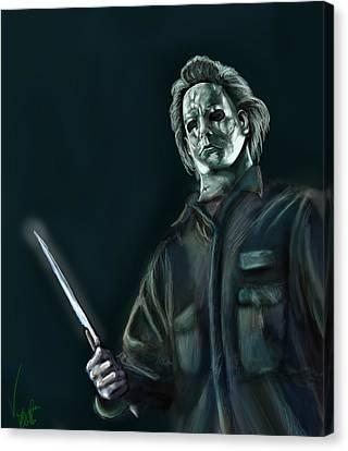 Michael Myers Canvas Print by Vinny John Usuriello