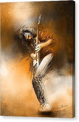 Michael Schenker Canvas Print by Miki De Goodaboom