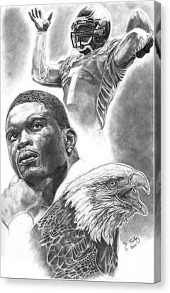 Michael Vick Canvas Print by Jonathan Tooley