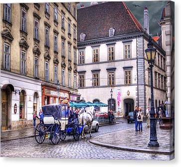 Michaelerplatz. Vienna Canvas Print by Juli Scalzi