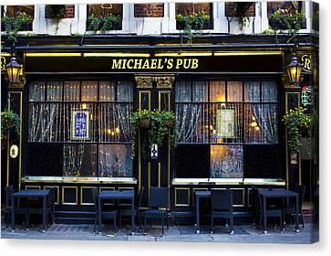 Michaels''s Pub Canvas Print by David Pyatt