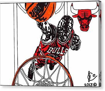 Micheal Jordan 2 Canvas Print by Jeremiah Colley
