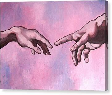 Michealangelo Hands 'creation' - A Study Canvas Print by Khairzul MG