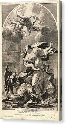 1616 Canvas Print - Michel Dorigny French, 1616-1665 After Simon Vouet French by Litz Collection