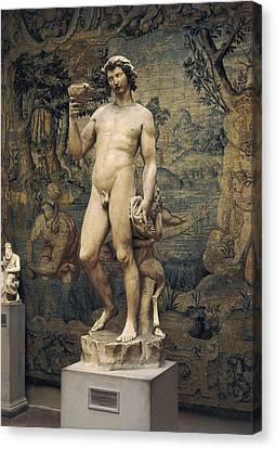 Michelangelo 1475-1564. Bacchus. 1496 - Canvas Print by Everett