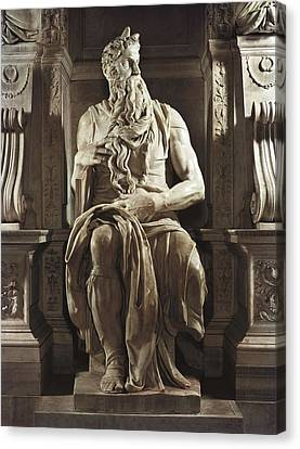 Michelangelo 1475-1564. Moses Canvas Print by Everett