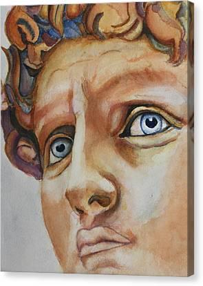 Michelangelo's David In Color Canvas Print