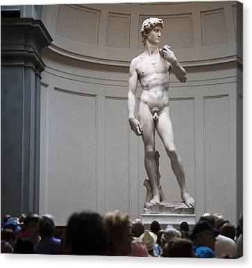 Canvas Print featuring the photograph Michelangelo's David by Nathan Rupert
