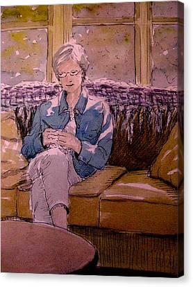 Michele's Mom Canvas Print by Gretchen Allen