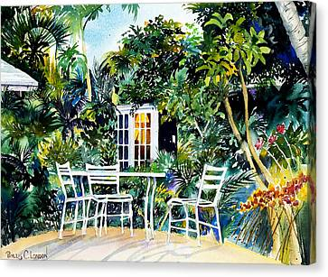 Michelle And Scott's Key West Garden Canvas Print by Phyllis London