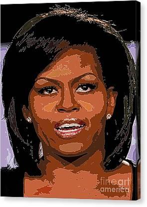 Michelle Obama Canvas Print by Dalon Ryan