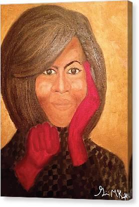 Michelle Obama Canvas Print by Ginnie McKnight