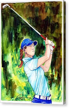 Michelle Wie Canvas Print by Dave Olsen