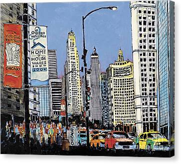 Michigan Ave Chicago  Canvas Print