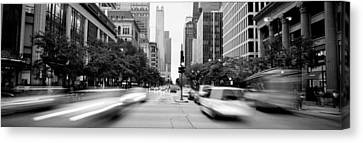 Michigan Avenue, Chicago, Illinois, Usa Canvas Print by Panoramic Images