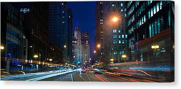 Michigan Avenue Chicago Canvas Print by Steve Gadomski