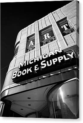 Canvas Print featuring the photograph Michigan Book And Supply by James Howe