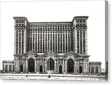 Michigan Central Station Canvas Print by James Howe