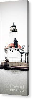 Michigan City Lighthouse Vertical Panorama Canvas Print by Paul Velgos