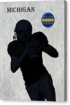 Michigan Football  Canvas Print by David Dehner