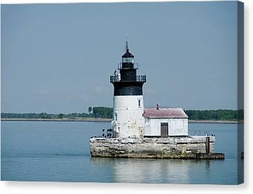Michigan, Lake Erie, Detroit River Canvas Print