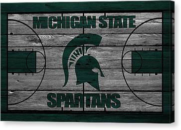 Marquette Canvas Print - Michigan State Spartans by Joe Hamilton
