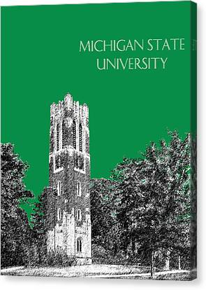 Michigan State University - Forest Green Canvas Print by DB Artist