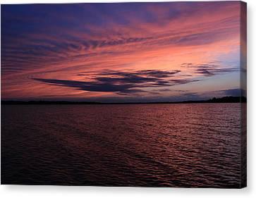 Michigan Sunset Canvas Print by Abby Ellis