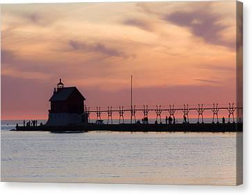 Michigan Sunset Canvas Print