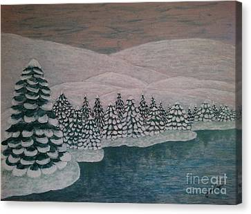 Michigan Winter Canvas Print by Jasna Gopic