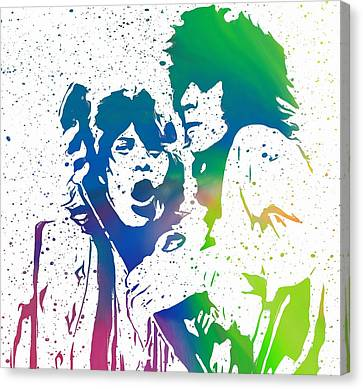 Mick Jagger And Keith Richards Canvas Print by Dan Sproul