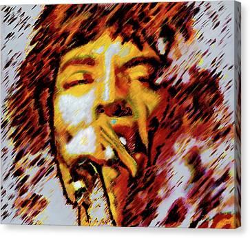 Mick Jagger Canvas Print by Barry Novis