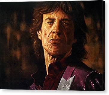 Mick Jagger Canvas Print by Guy McIntosh