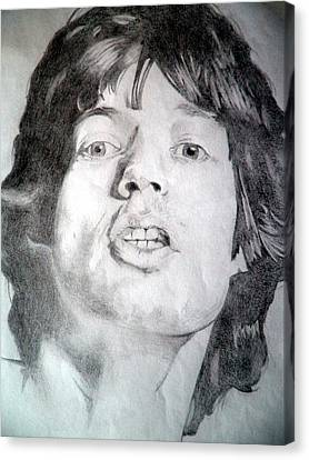 Mick Jagger - Large Canvas Print by Robert Lance