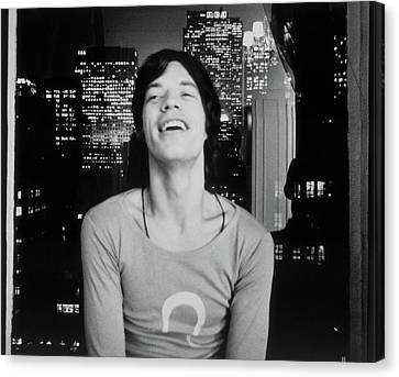 Mick Jagger Laughing Canvas Print by Cecil Beaton