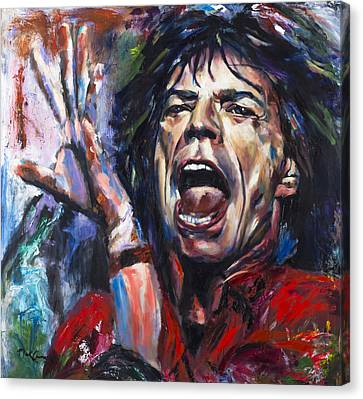 Mick Jagger Canvas Print by Mark Courage