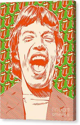 Mick Jagger Pop Art Canvas Print by Jim Zahniser