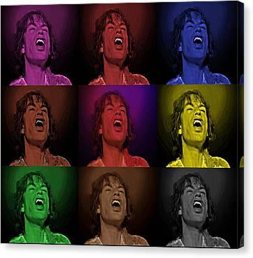 Canvas Print featuring the photograph Mick Jagger Pop Art Print by David Dehner