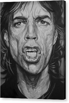 Mick Jagger Canvas Print by Steve Hunter