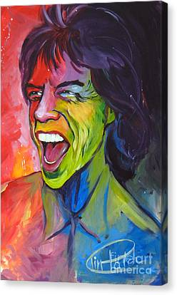Mick Jagger Canvas Print by Tim Patch