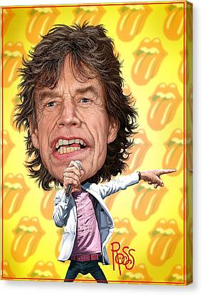 Mick Jagger Canvas Print by Scott Ross