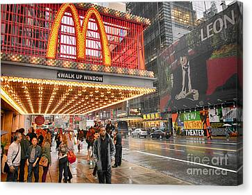 Mickey D's In Manhattan Canvas Print by David Bearden
