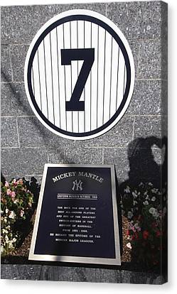 Mickey Mantle Canvas Print by Allen Beatty