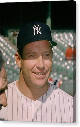 Mickey Mantle Famous Smile Canvas Print by Retro Images Archive
