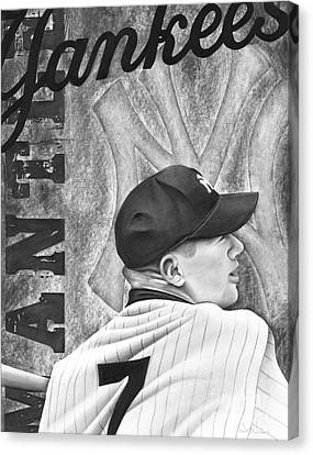 Mickey Mantle Canvas Print by Scott  Hubbert
