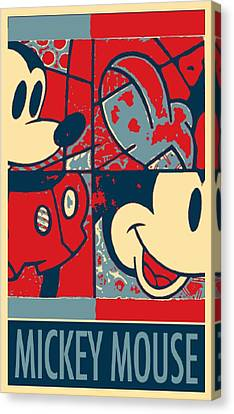Mickey Mouse In Hope Canvas Print by Rob Hans