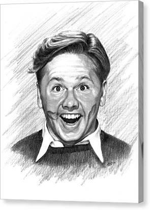 Mickey Rooney Canvas Print by Lou Ortiz
